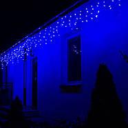 Новогодняя гирлянда Бахрома 300 LED, Синий цвет, 14,5 м + пульт, фото 6