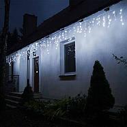 Новогодняя гирлянда Бахрома 300 LED, Холодный белый цвет, 14,5 м + пульт, фото 6