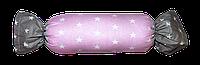 Подушка игрушка детская Хатка Конфета Принцесса Розовая с серым