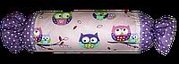 Подушка игрушка детская Хатка Конфета Фиолетовые Совы