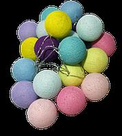 Гирлянда нитяная из 20 цветных шаров