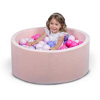 Бассейн для дома сухой, детский, нежно-розовый 80 см