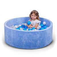 Бассейн для дома сухой, детский, синий 80 см