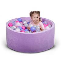 Бассейн для дома сухой, детский, фиолетовый 80 см