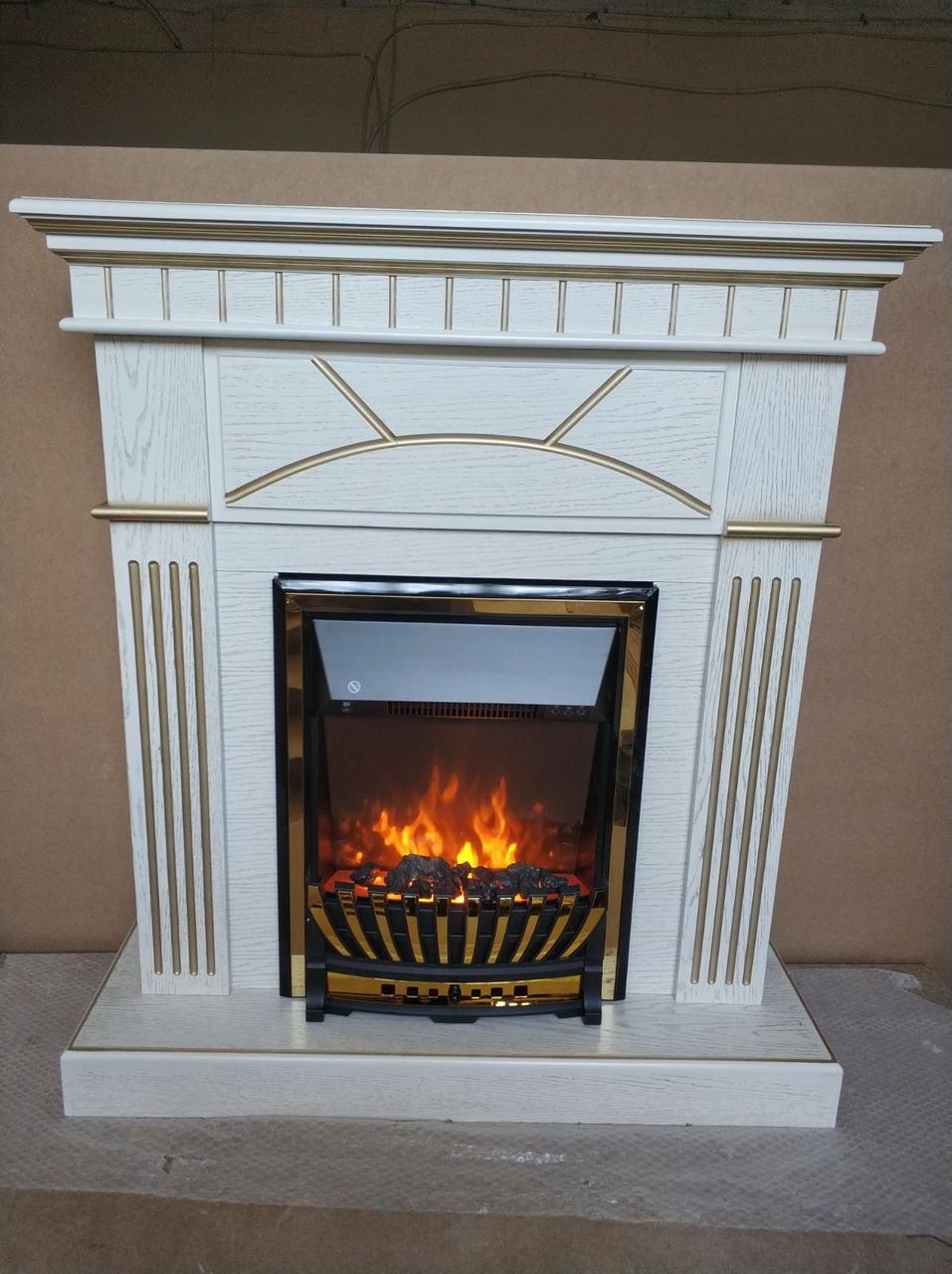 Электрокамин с порталом в современном стиле из МДФ Fireplace Япония эффектом сгорания дров и пламени
