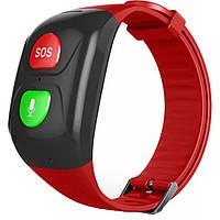 Смарт-часы GoGPS М03 кнопка SOS black/red (M03BKRD)