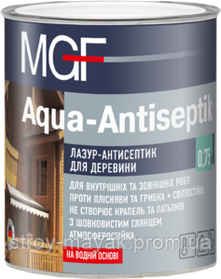 Лазурь-антисептик для древесины MGF 0,75 дуб
