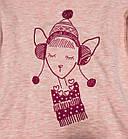 """Сорочка для девочки """"Веселые зверята"""" теплая (рост 128), фото 3"""