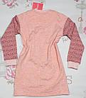 """Сорочка для девочки """"Веселые зверята"""" теплая (рост 128), фото 4"""
