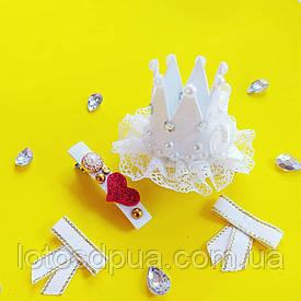 Корона праздничная на заколке (маленькая) + заколка