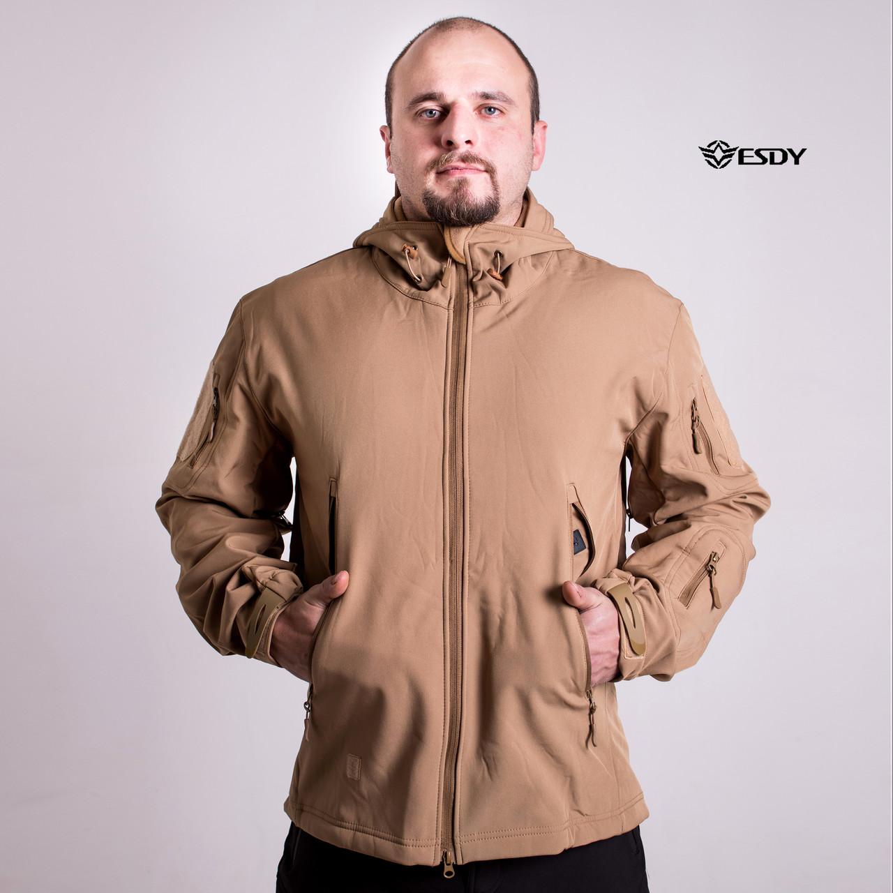 Тактическая Куртка Soft Shell ESDY TAC.-01 Coyote непромокаемая