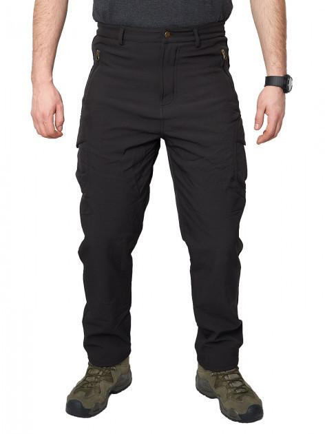 Тактические штаны на флисе Softshell Esdy Ranger Black