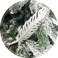 Игрушка на елку «Перо» (белая, 19см)