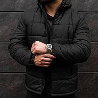 Курточка мужская теплая с капюшоном, зимняя куртка на флисе! Наполнитель Premium силикон! (-25)°C