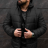Куртка мужская с капюшоном, теплая зимняя курточка на флисе до (-15)°C! Premium!
