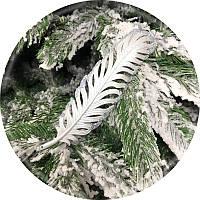 Игрушка на елку «Перо» (посеребренная, 19см)