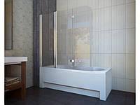 Шторка для ванни, прозоре скло, 150*140 см