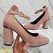 Туфли пудра замшевые с ремешком застежкой, фото 8