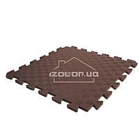 Детский коврик-пазл (мягкий пол татами ласточкин хвост) IZOLON EVA SPORT 300х300х10мм, шоколад
