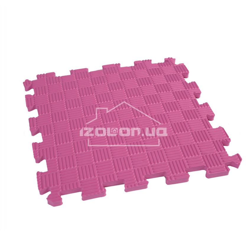 Детский коврик-пазл (мягкий пол татами ласточкин хвост) IZOLON EVA SPORT 300х300х10мм, розовый