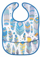 Слюнявчик пластиковый мягкий с карманом  Canpol babies Wild Nature, бирюзовый 9/234_tur