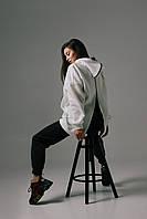 Женский спортивный костюм на флисе с молнией на спине и штанинах (р. 42-46) 66spt1180Q