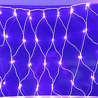 Светодиодная гирлянда сетка 3х2 м белый пвх провод, фото 1