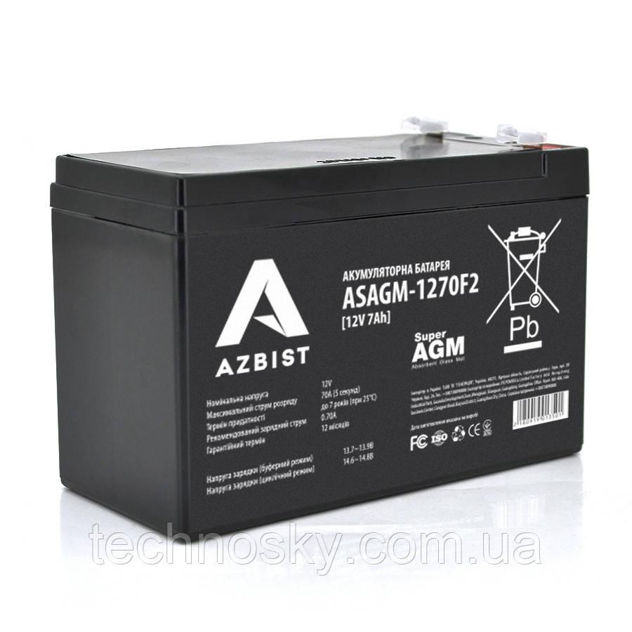 Мультигелевый аккумулятор Azbist ASAGM-1270F2 (12V , 7 Ah)