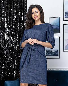 Элегантное платье с длинными поясом 42-48 (в расцветках)