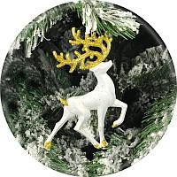 Игрушка на елку «Олень» (золотой, 15см)