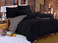 Комплект постельного белья Наша Швейка Бязь Чёрный и серый однотонный Полуторный 150х215 см