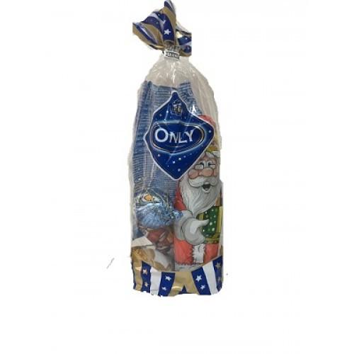 Шоколадний набір Only (іграшки на ялинку+Санта Клаус), 100г