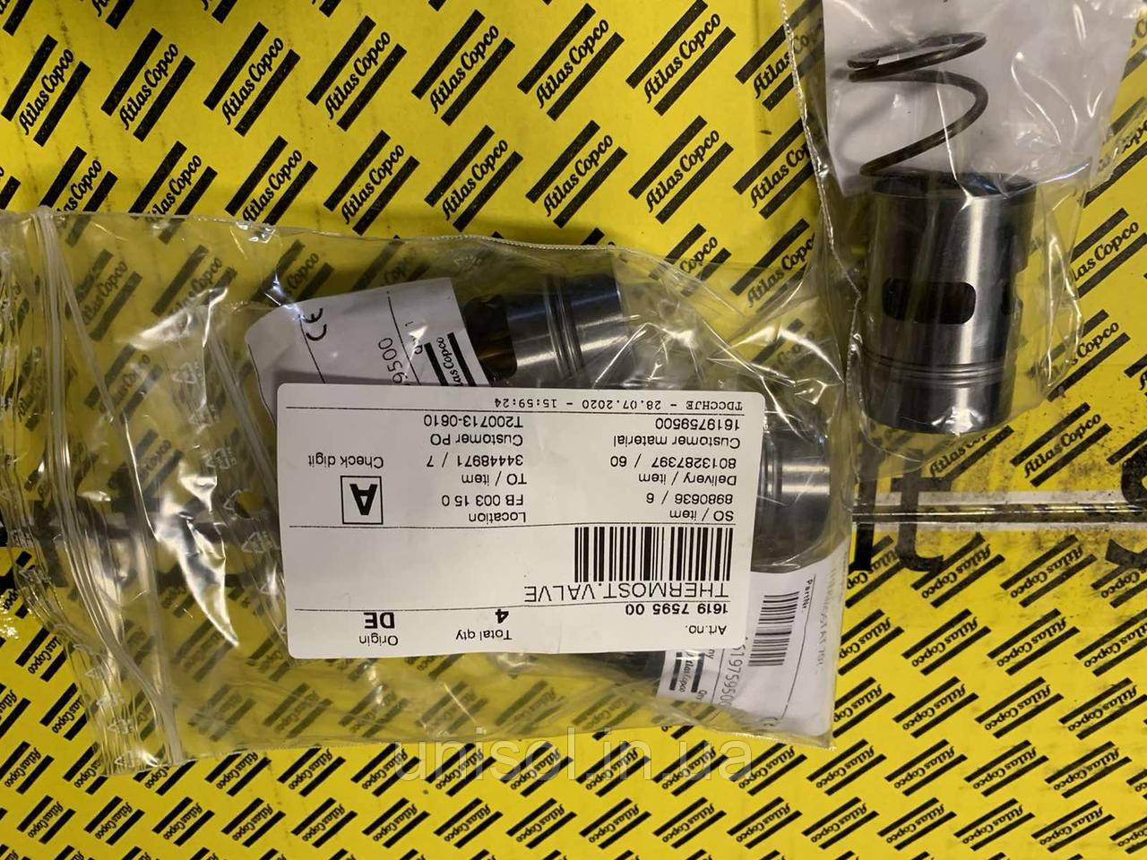 Термостат компрессора Atlas Copco 1619 7595 00