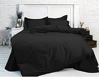 Комплект постельного белья Наша Швейка Бязь Чёрный однотонный Евро 200х220 см