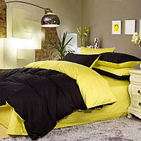 Комплект постельного белья Наша Швейка Бязь Желтый с черным однотонный Евро 200х220 см