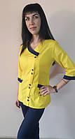 Жіночий медичний костюм Китай сорочкова тканина три чверті рукав