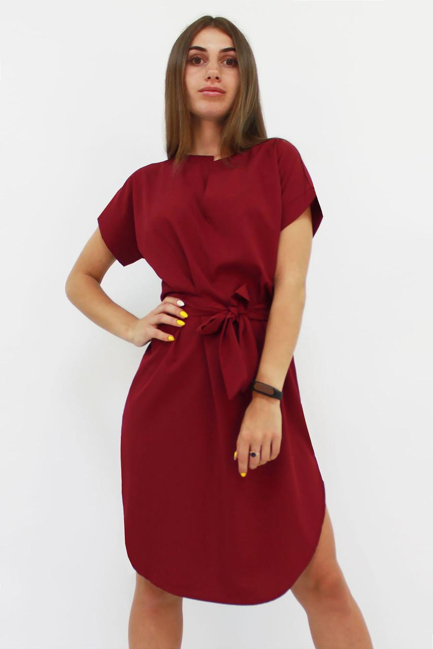 Повседневное женское платье Megan, марсала