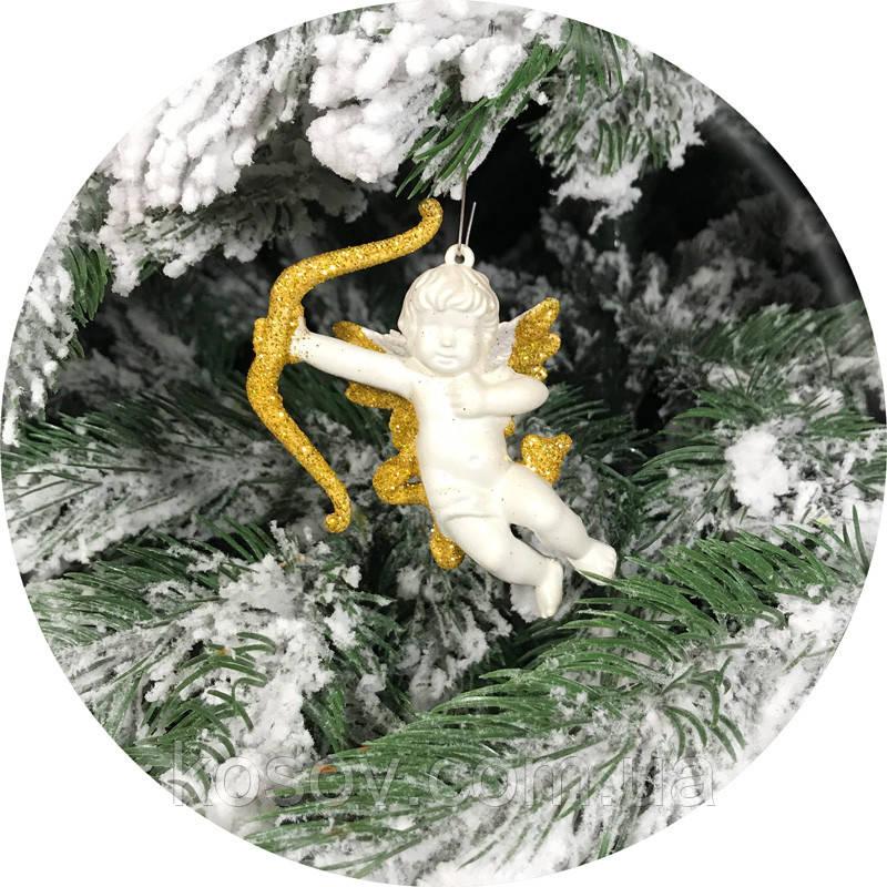 Игрушка на елку «Купидон» (золото, 9см)