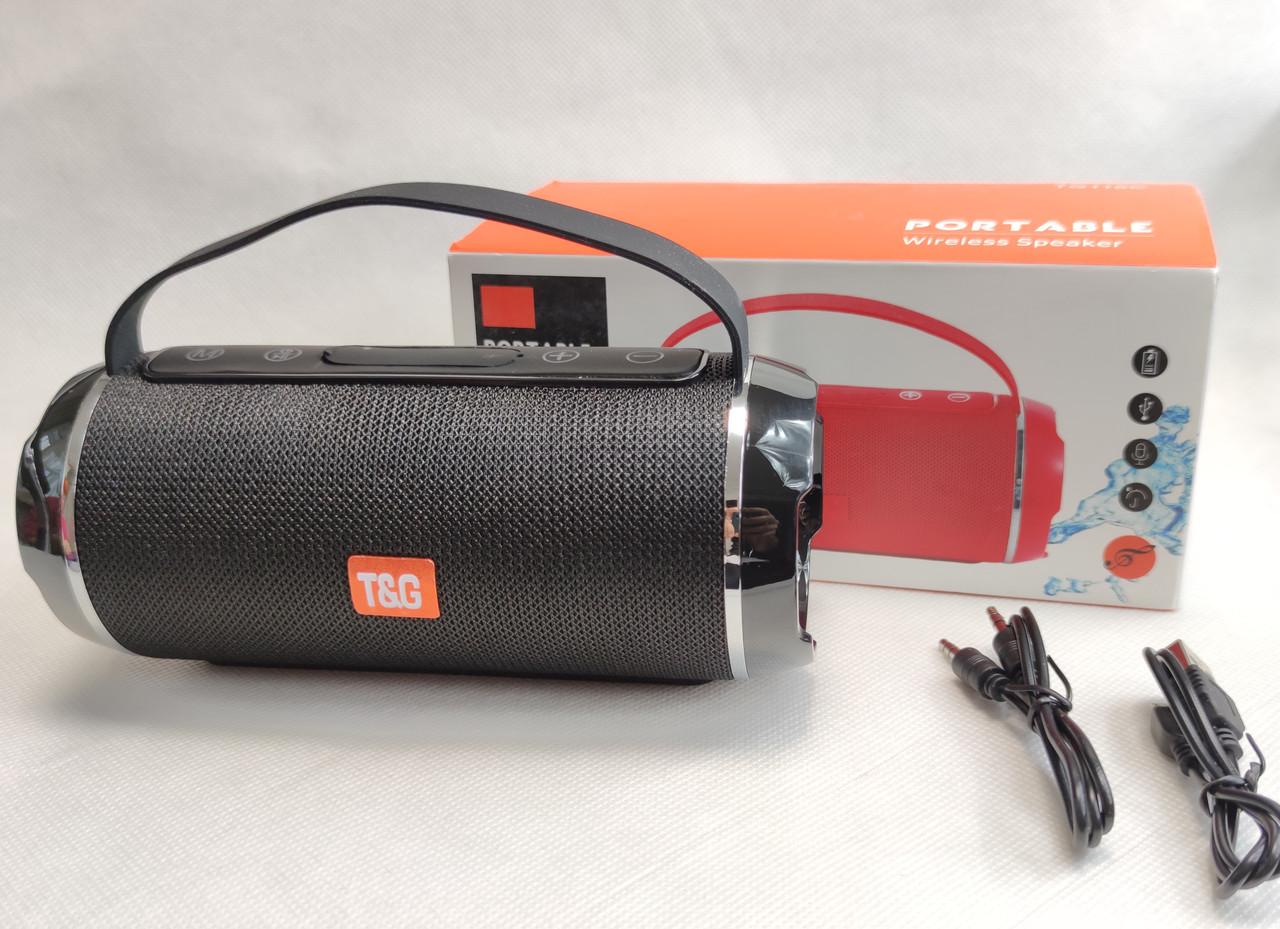 Портативная беспроводная bluetooth бумбокс юсб колонка для музыки блютуз акустика для телефона черная