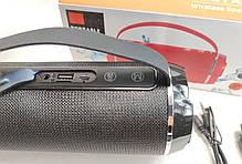 Портативная беспроводная bluetooth бумбокс юсб колонка для музыки блютуз акустика для телефона черная, фото 3