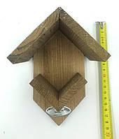 Годівниця для птахів дерев'яна яна у формі будиночка бежевого кольору