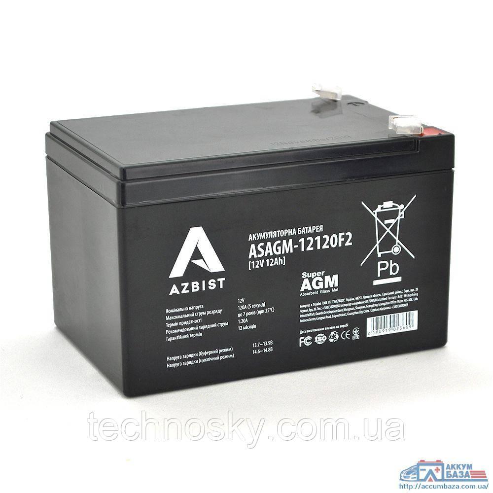 Мультигелевый аккумулятор Azbist ASAGM-12120F2 (12V , 12 Ah)