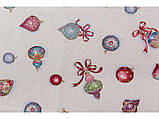 Скатерть новогодняя тканевая гобеленовая 240 х 137 см скатертина новорічна гобеленова, фото 3