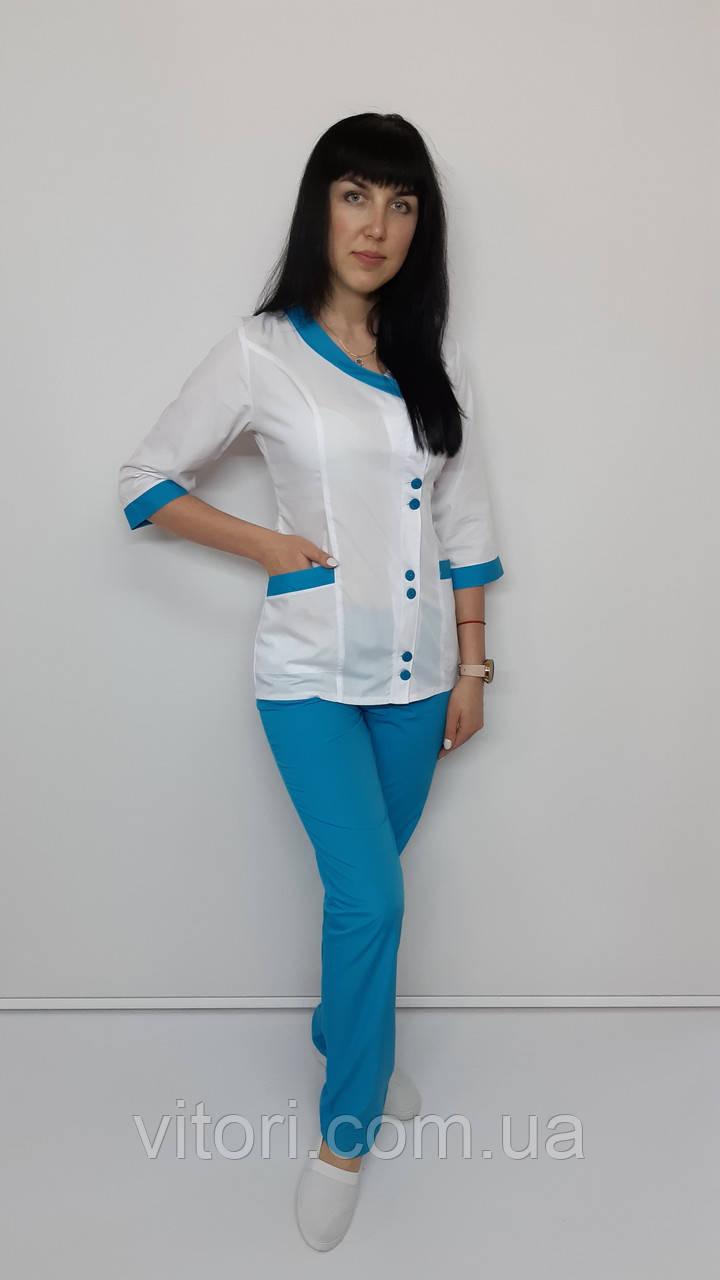 Женский медицинский костюм Китай хлопок три четверти рукав
