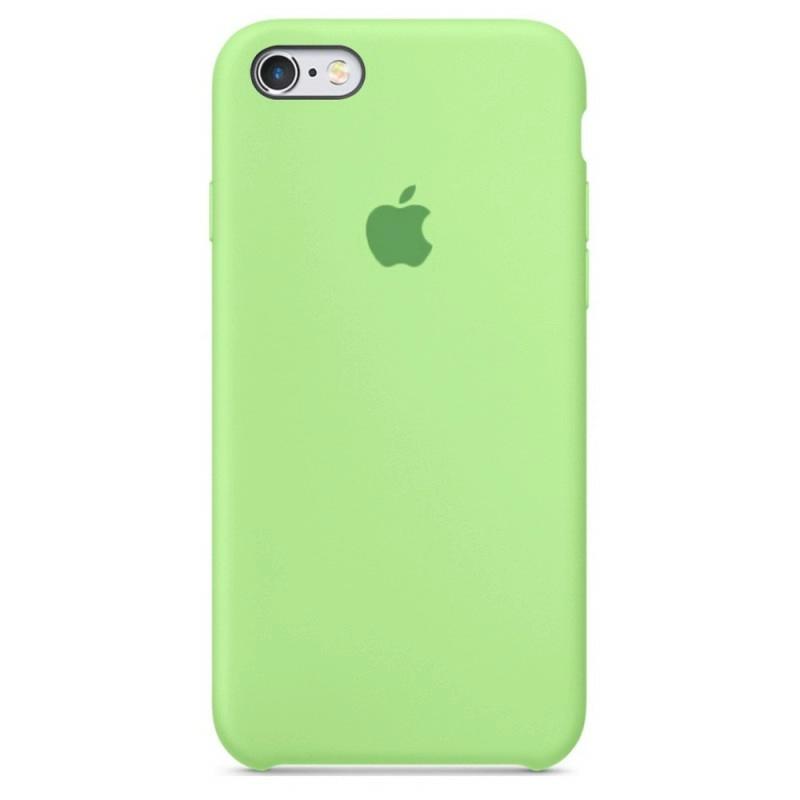 Чехол Silicone Case (Premium) для iPhone 6 plus / 6s plus Grass Green