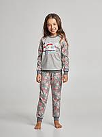 Детская пижама для девочки утепленная Ellen GNP 017/003  (рост 128,134,140), фото 1