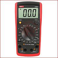 Мультиметр цифровой UNI-T UT-601, измеритель емкости конденсаторов и сопротивления с защитой