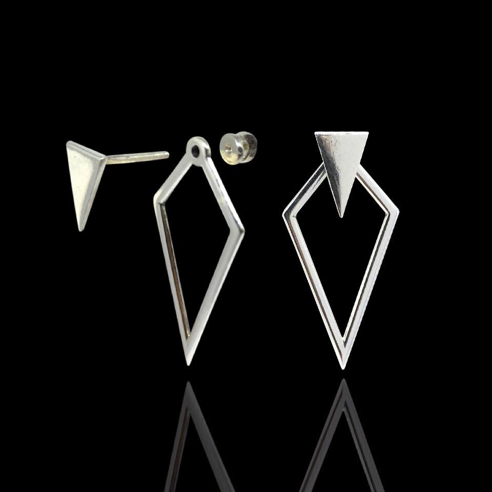 Серебряные серьги Геометрия