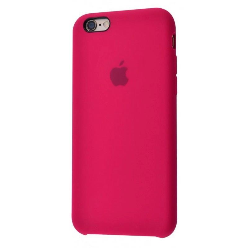 Чехол Silicone Case (Premium) для iPhone 6 plus / 6s plus Rose Red