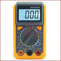 Кишеньковий мультиметр універсальний Digital UK-831LN, детектор проводки, захисний корпус
